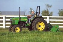 360 Flail Mower in use