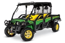 Green and yellow Gator Crossover Utility Vehicle XUV855D S4