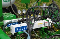 Close-up of Raven AccuFlow application system