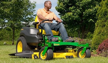 Man on EZtrak Mower