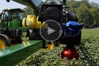 Image showing R4023 Sprayer in action - follow for video