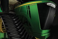 Close-up image of 9RX tractor grill