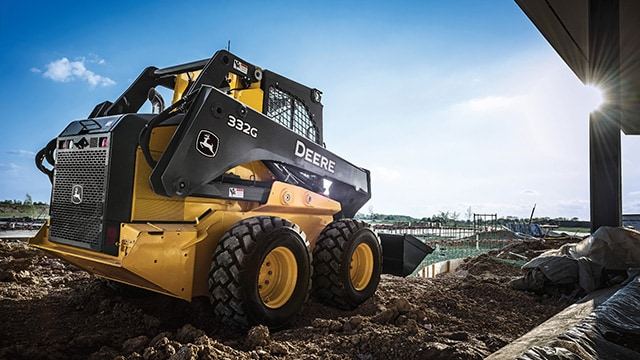 skid steer on a commercial jobsite