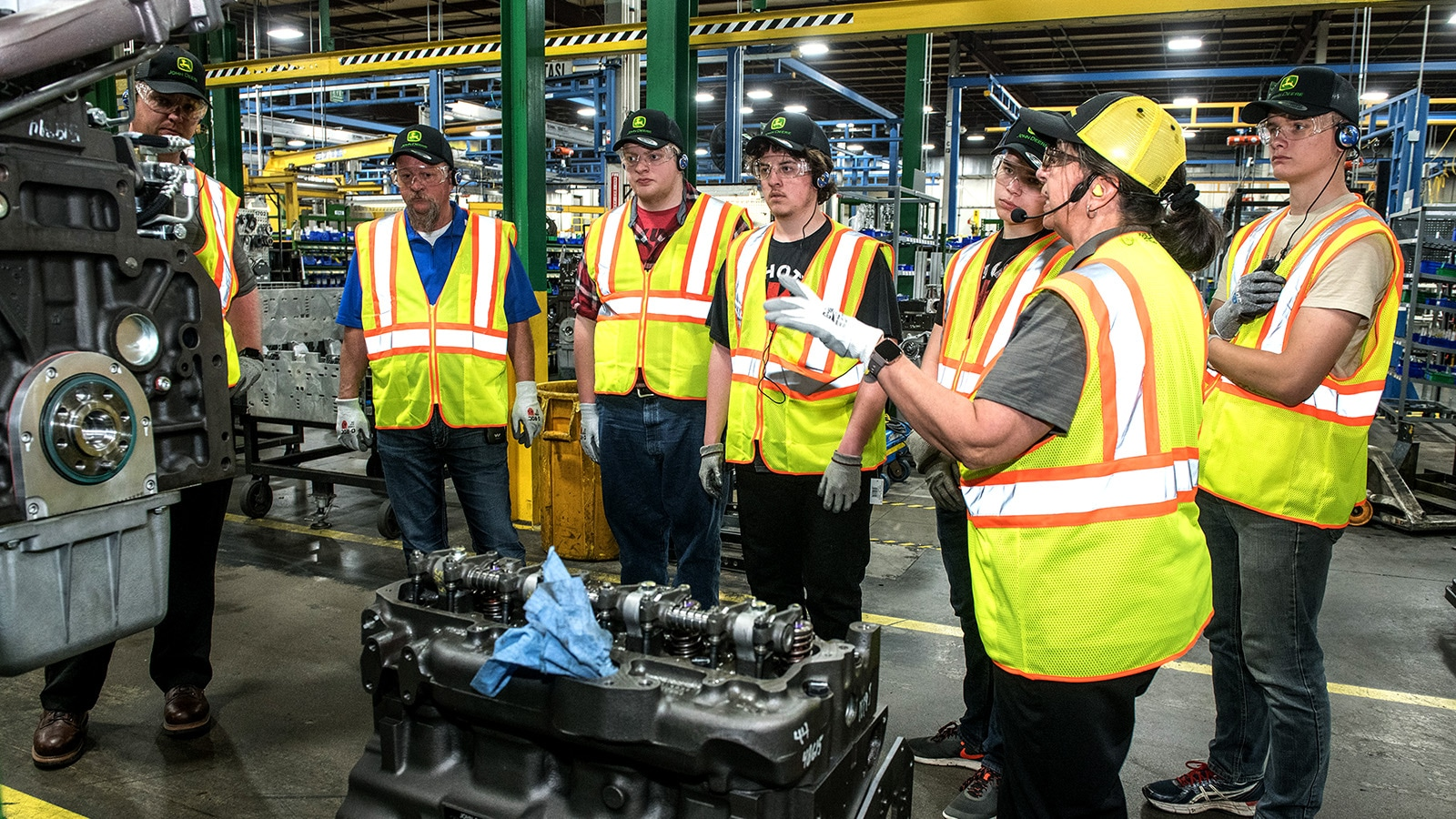 Students learn about processes and operations at the Springfield facility.