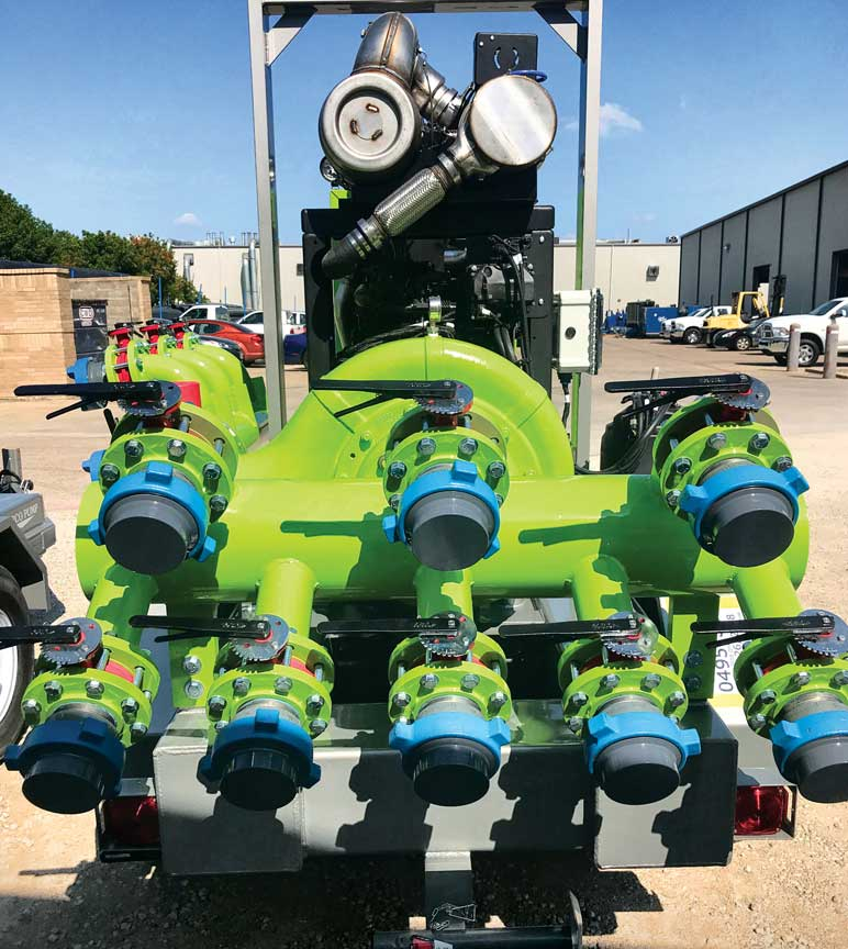 Two custom painted pumps by Barco Pump