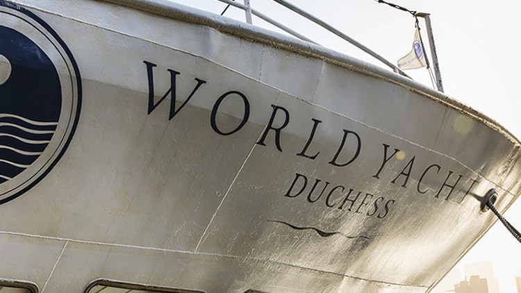 New York Cruise Line World Yacht Duchess Bow