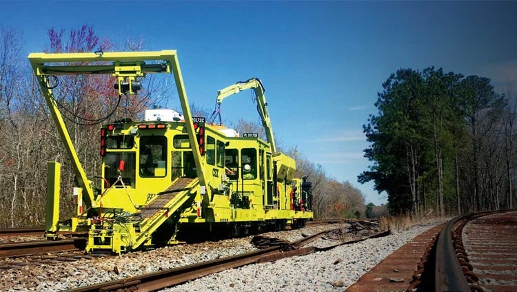 Sperling Railroad plate laying machine