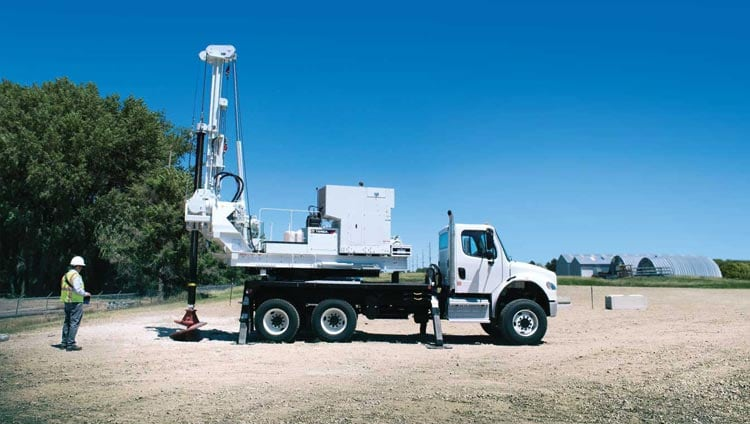 Terex truck-mounted auger drill