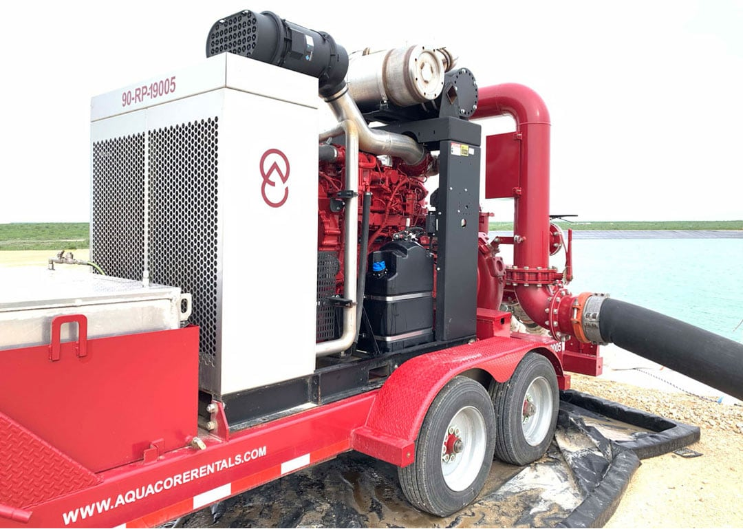 Aquacore Rental Company Water Transfer Pumping Unit With John Deere Industrial Engine and Cornell Pumps