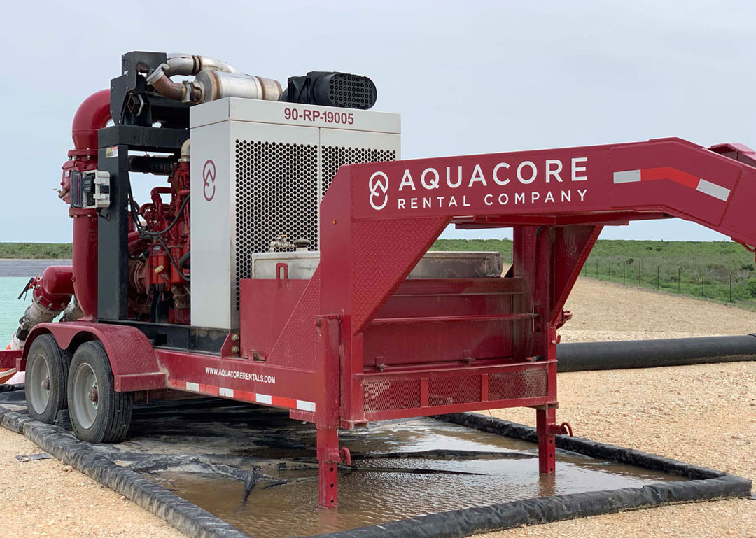Aquacore Rental Company Water Transfer Pumping Unit Powered By A John Deere Industrial Engine