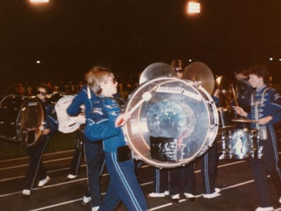 Adrian Rantilla as a young child playing in the band.