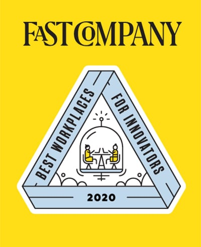 Award from Fast Company for Best Workplaces for Innovators in 2020