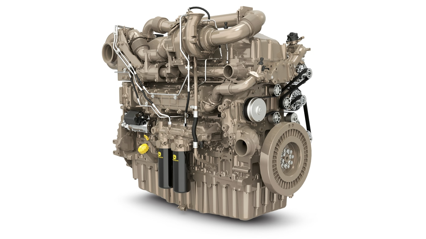 image shows John Deere 18.0L series turbo engine