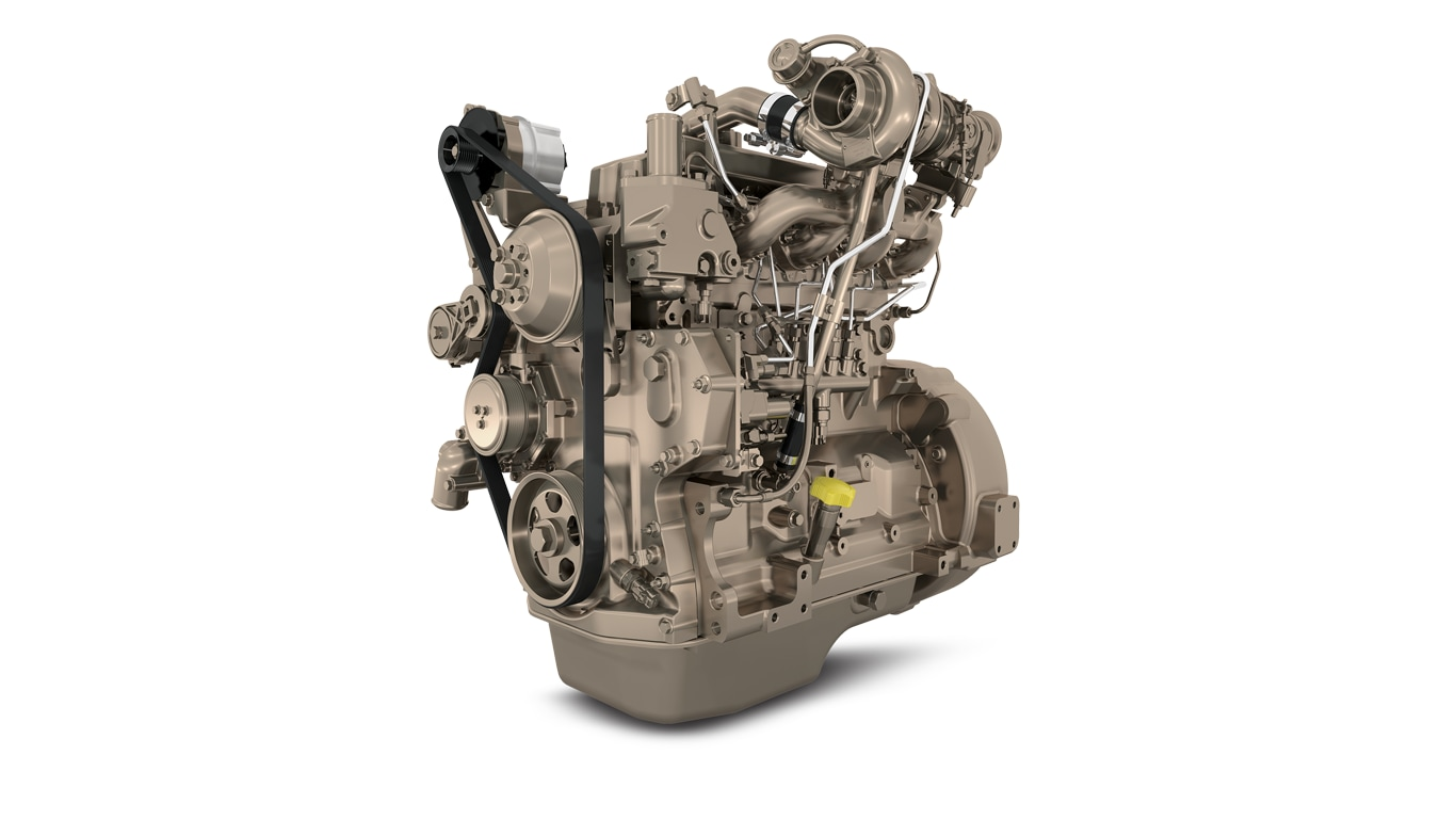 image shows John Deere 4.5L engine