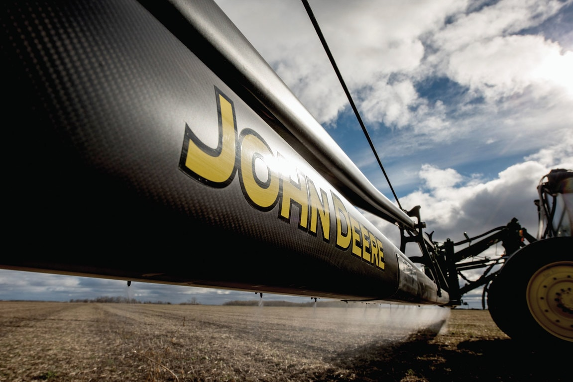 New John Deere 120- and 132-ft. carbon fiber boom
