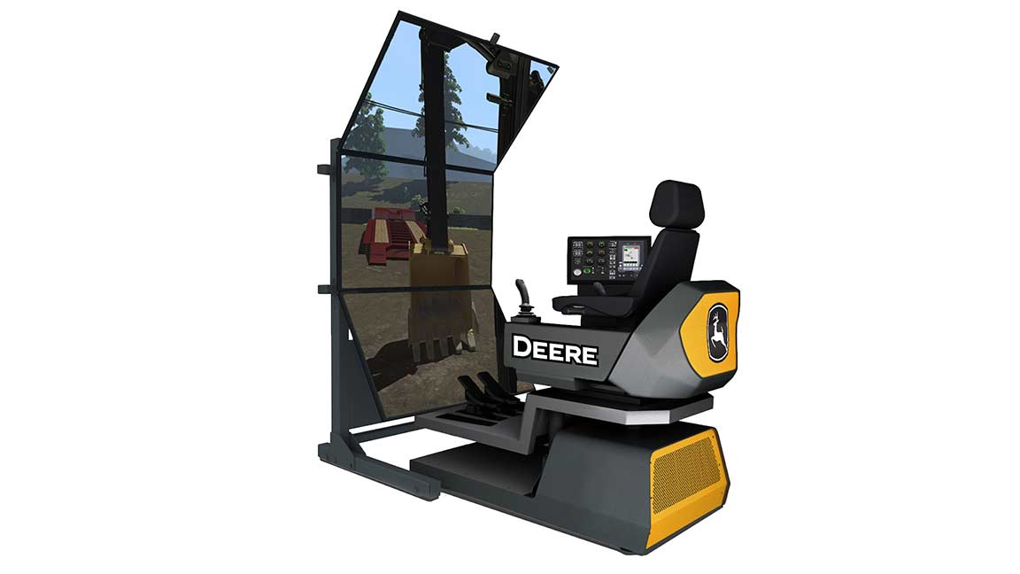 Simulator Excavator Control with Vertical Screen
