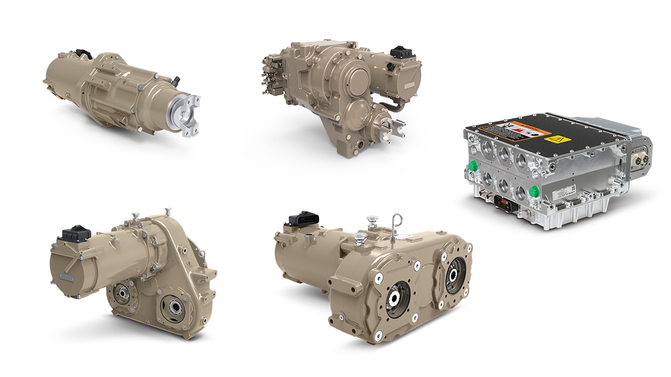 image shows electric drivetrain components