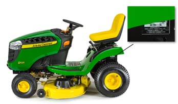 side-view of a riding mower