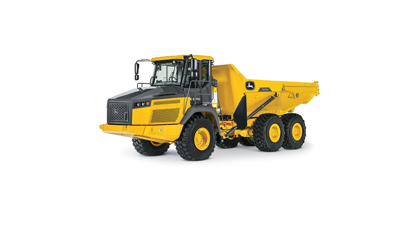 310E Articulated Dump Truck on a white background