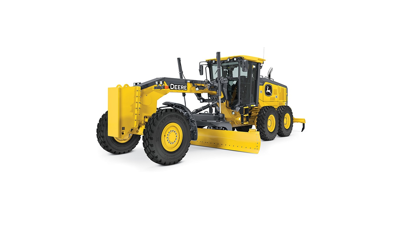 772G/GP motor grader on white background