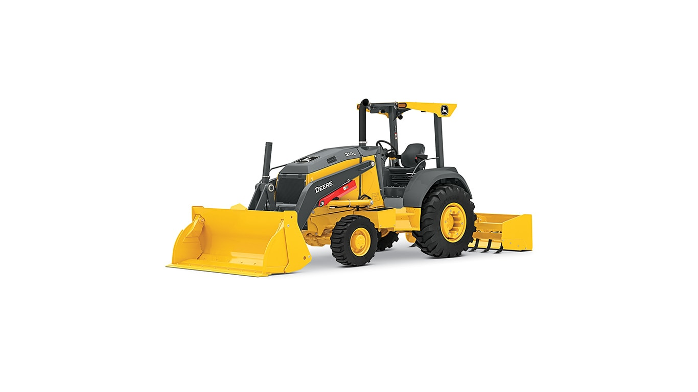 210L Tractor Loader on a white background