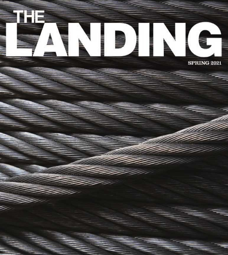 Cover of the current issue of The Landing