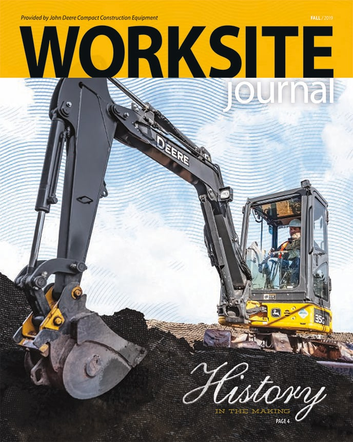 Image of the front cover of the latest edition of the Worksite journal