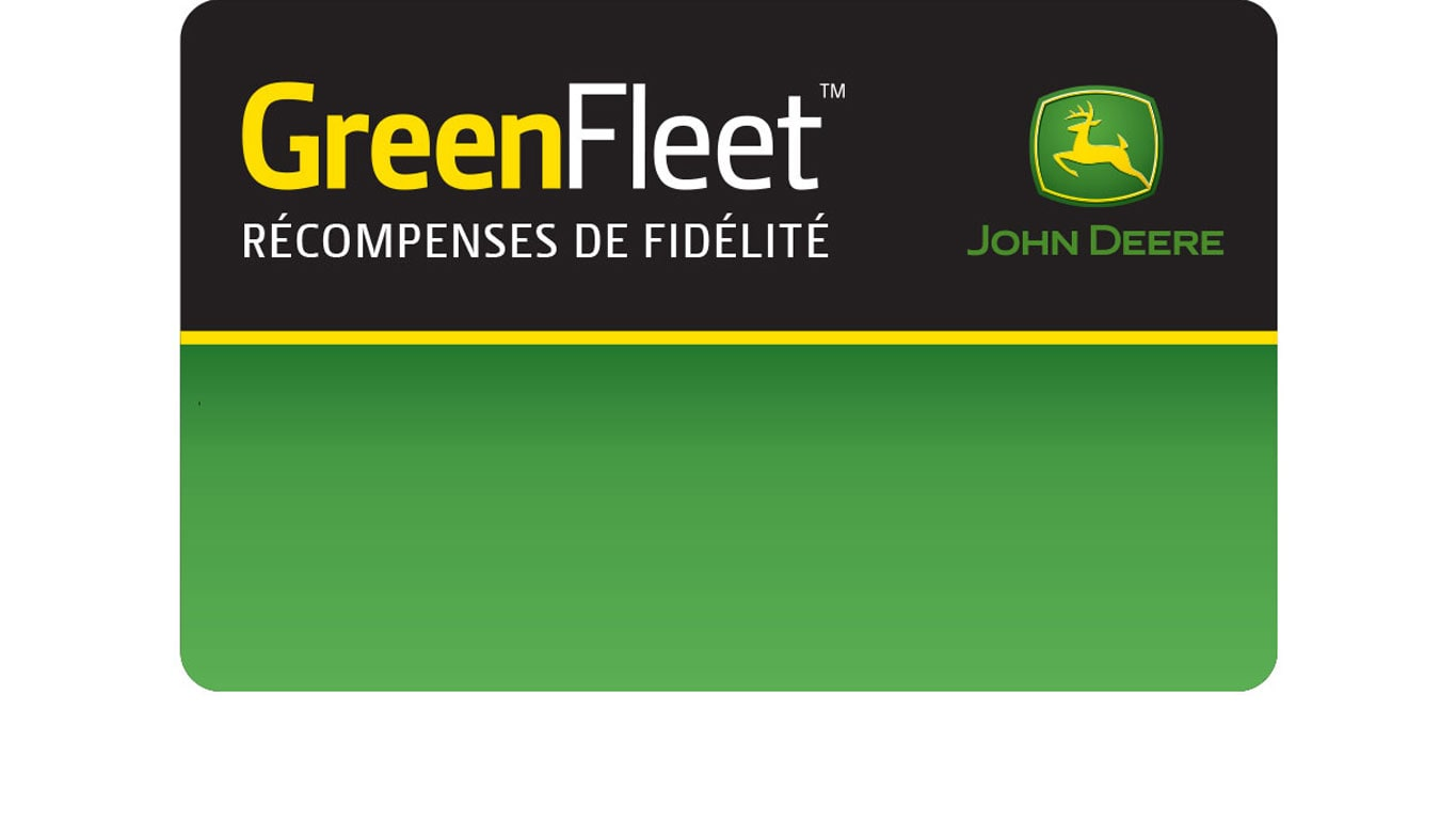 Carte de récompenses Green Fleet