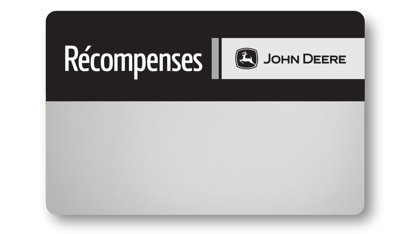 Carte Récompenses John Deere