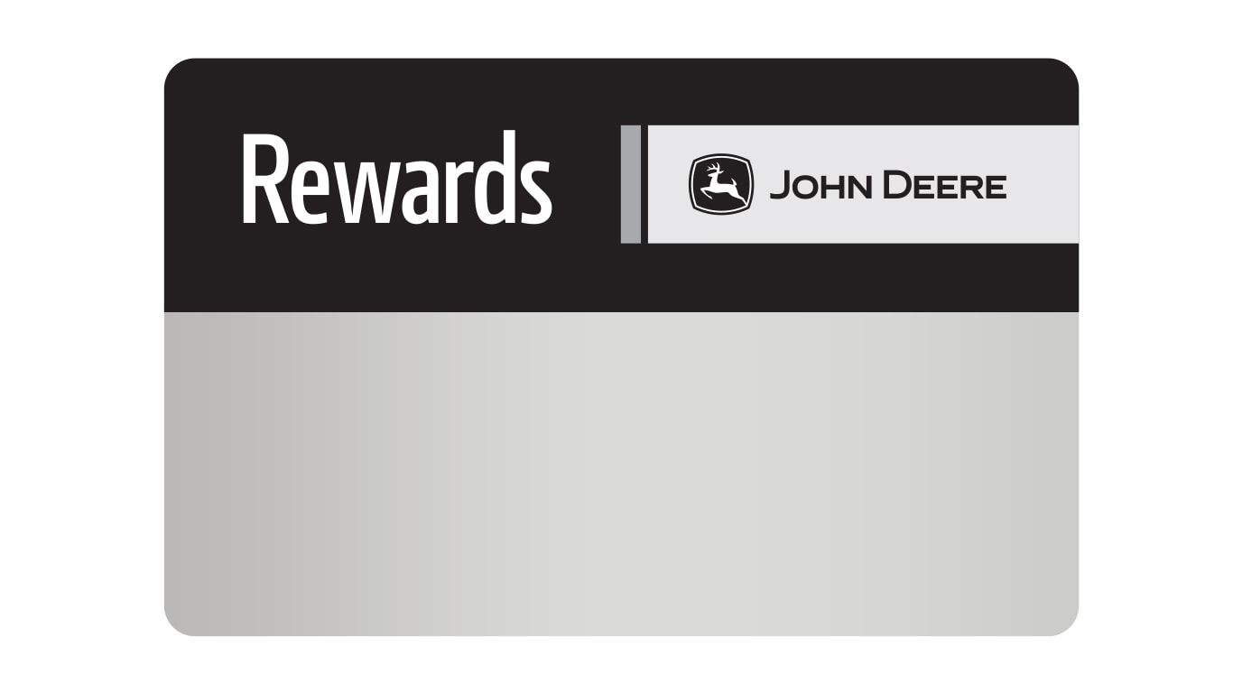 john Deere Rewards Membership card