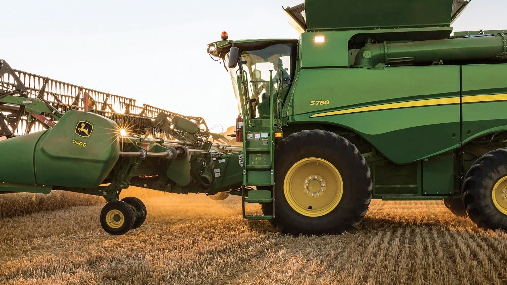 Photo of S700 Combine in the field.