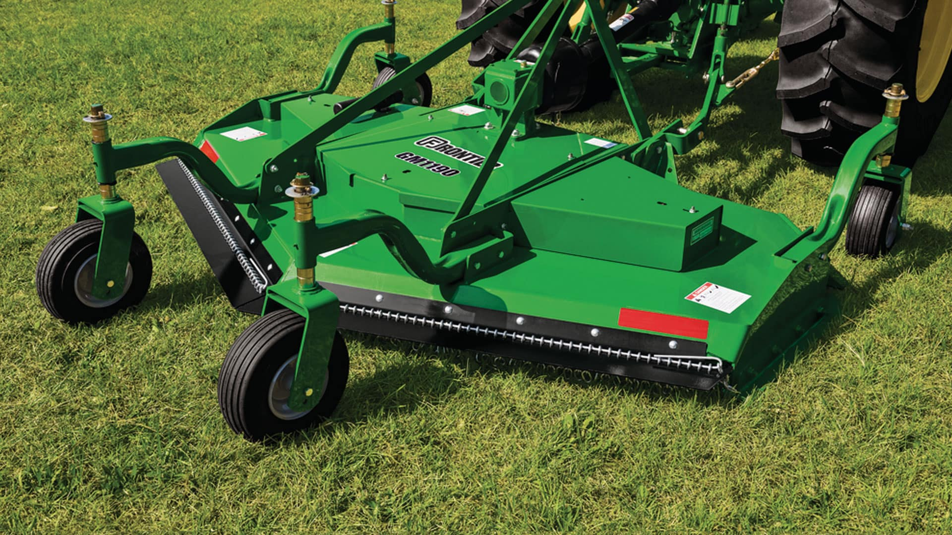 image of grooming mower in grass