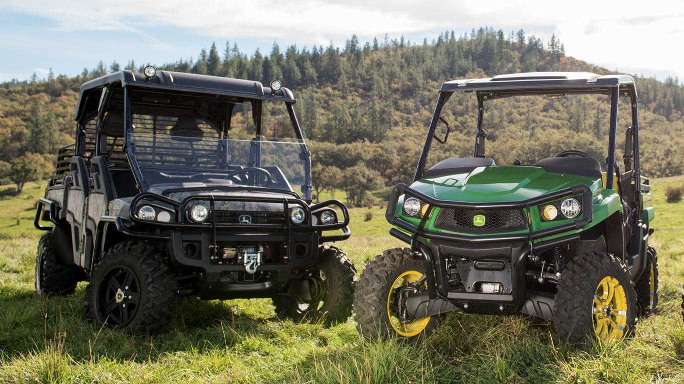 image of two crossover gator models in rolling hills