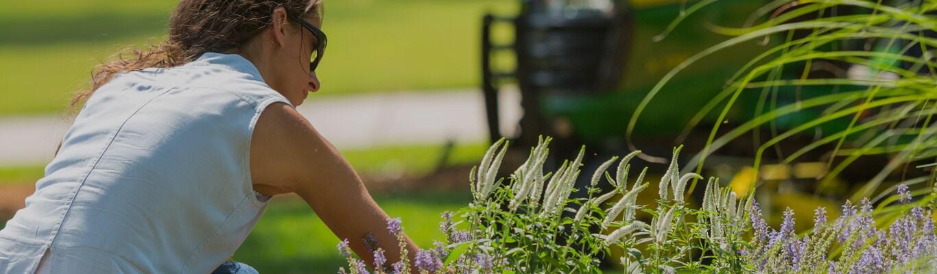 woman in lawn