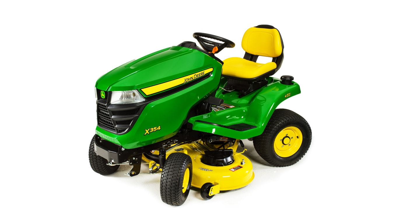 studio image of X354 select series lawn tractor