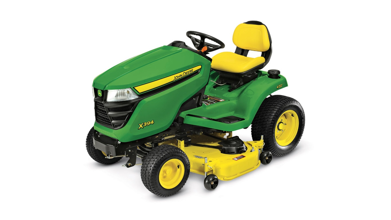 studio image of X394 select series lawn tractor