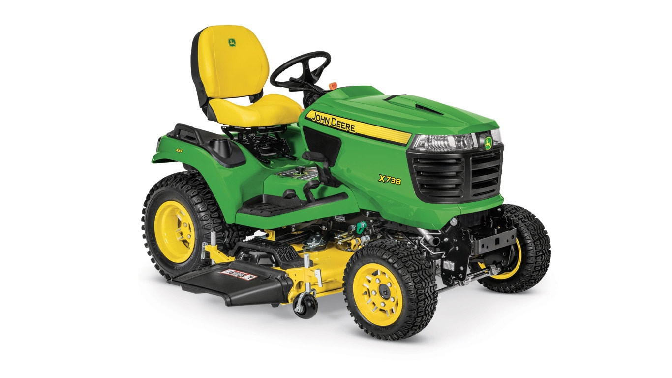 Studio image of x738 with 54-in mower