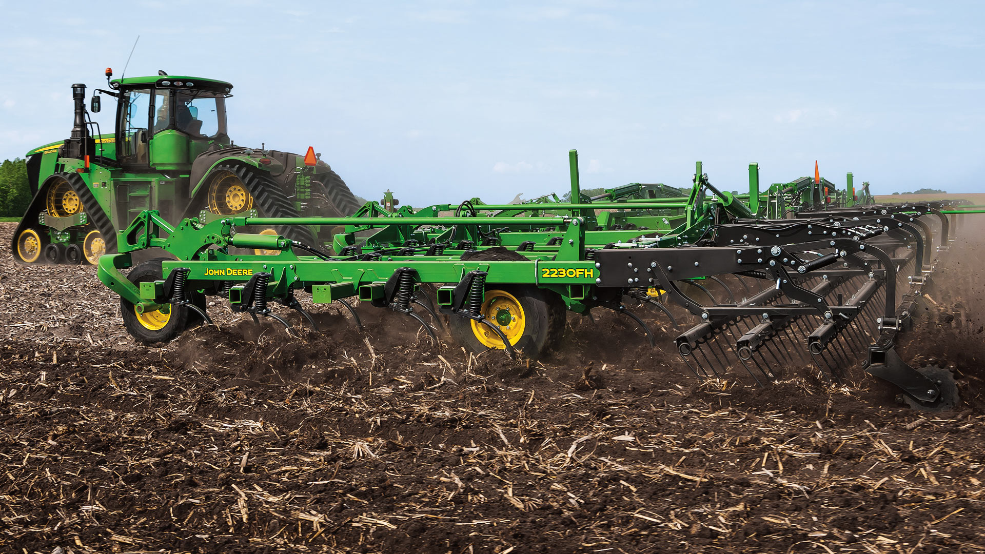 seedbed equipment moving through field