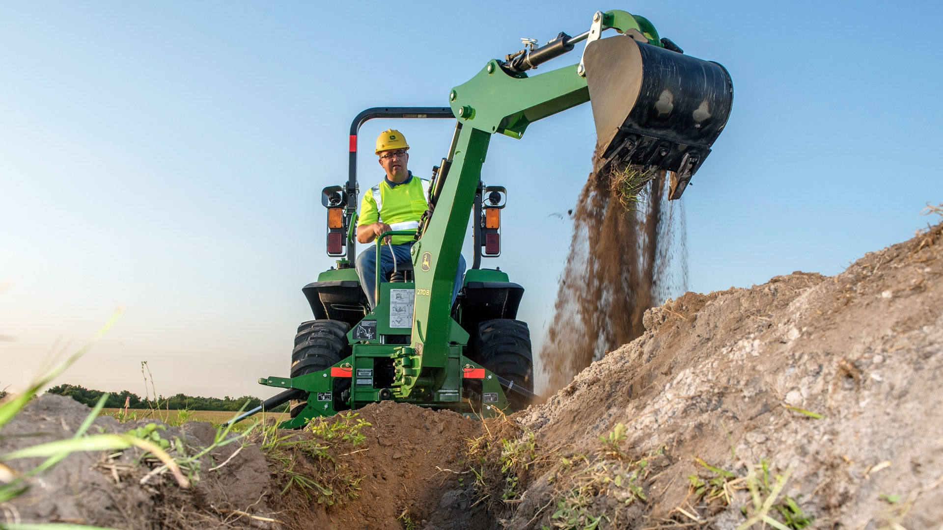 Learn more about the 270B Quick-Tach Backhoe