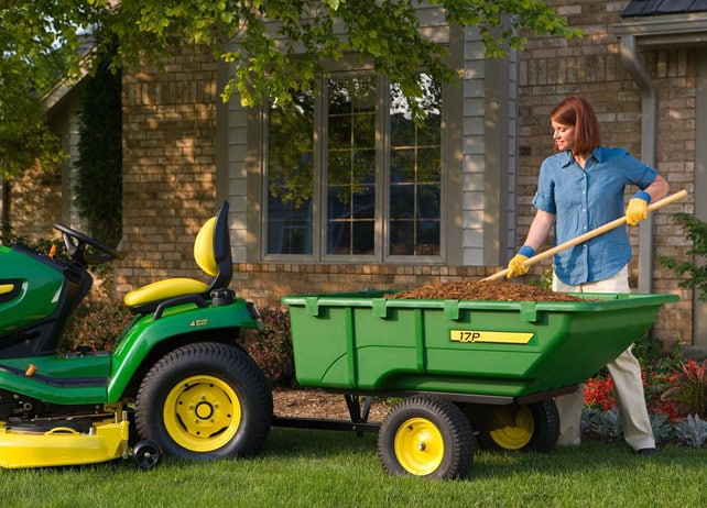 John Deere Lawn Tractor Wagon : John deere p poly cart yard lawn care attachment