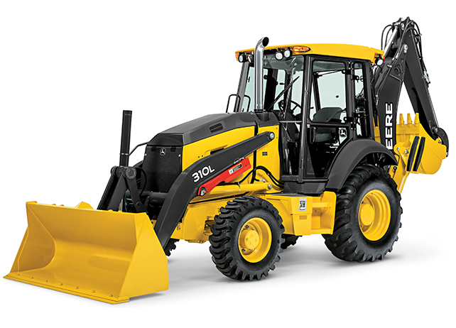 Studio view of the 310L Backhoe Loader