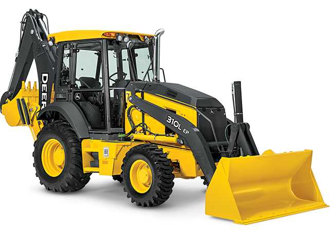 Studio view of the 310L EP Backhoe Loader