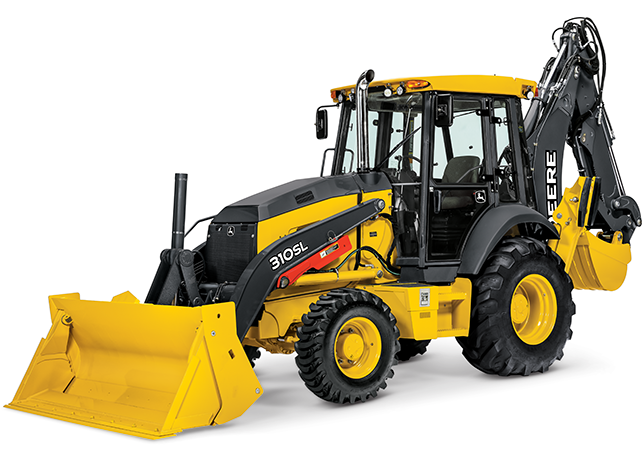 Studio view of the 310SL Backhoe Loader