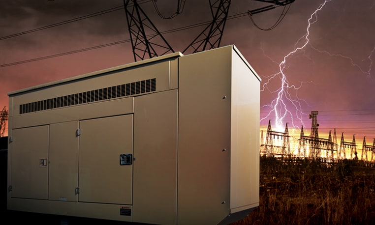 Image of lightning striking generator