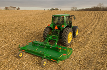 HX14 Rotary Cutter working in a harvested cornfield