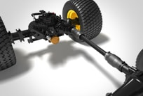Studio image showing wide area mower transmission