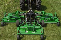 Image of Flex-Wing Grooming Mower in Action