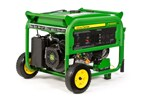 8000 watt wheeled portable generator with electric start