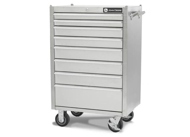 AC-4100TC-B 41-inch, 12-Drawer Stainless Steel Tool Cabinet