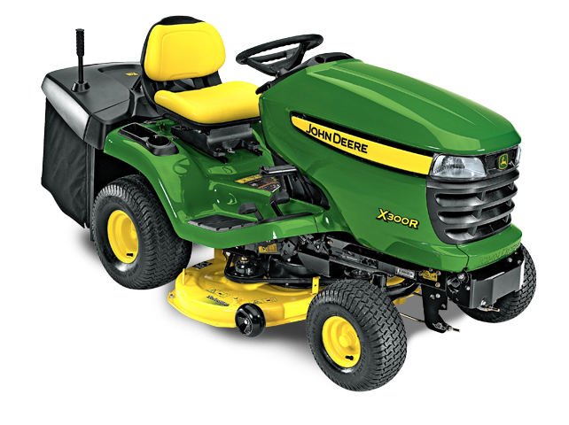 lawn tractor x300r with 42 in deck john deere ca. Black Bedroom Furniture Sets. Home Design Ideas
